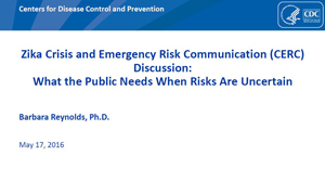 CERC, Zika, and Uncertainty - PowerPoint Slides