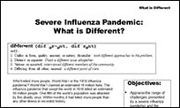A page from the CER Pandemic Influenza manual.