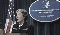 Dr. Anne Schuchat, speaking to reporters at a CDC news conference