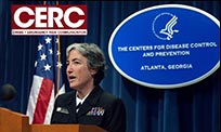CERC design element over photo of Anne Schuchat, Principal Deputy Director of CDC