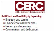 The front side of the CERC Wallet Card that provides an overview of CERC Principles.