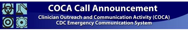 COCA Call Announcement