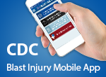 CDC Blast Injury Mobile App badge