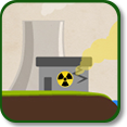 Illustration of a power plant accident