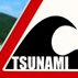 Photo of tsunami warning sign.